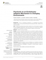 Psychosis as an Evolutionary Adaptive Mechanism to Changing Environments