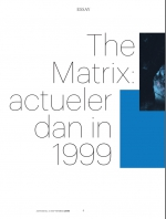 2019-09-21 (Trouw) The Matrix: actueler dan in 1999